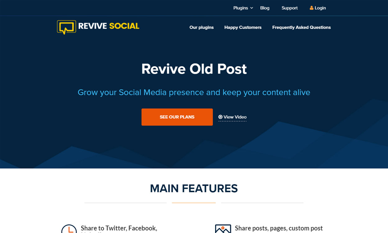 Revive Social - 5+ Best WordPress Social Auto Post Plugins