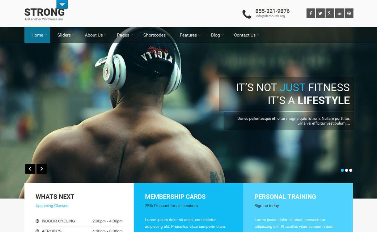 SKT Strong - Best free WordPress Business Theme 2018