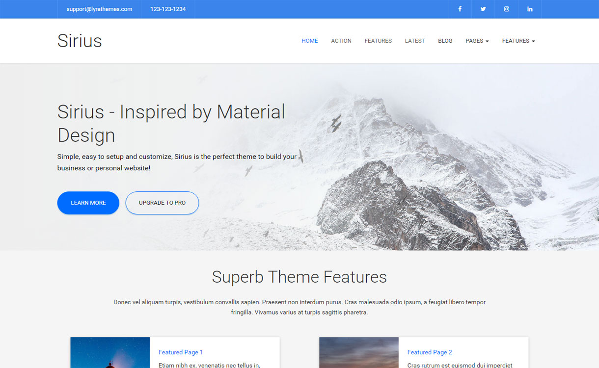 Sirius - Premium Multipurpose WordPress Theme