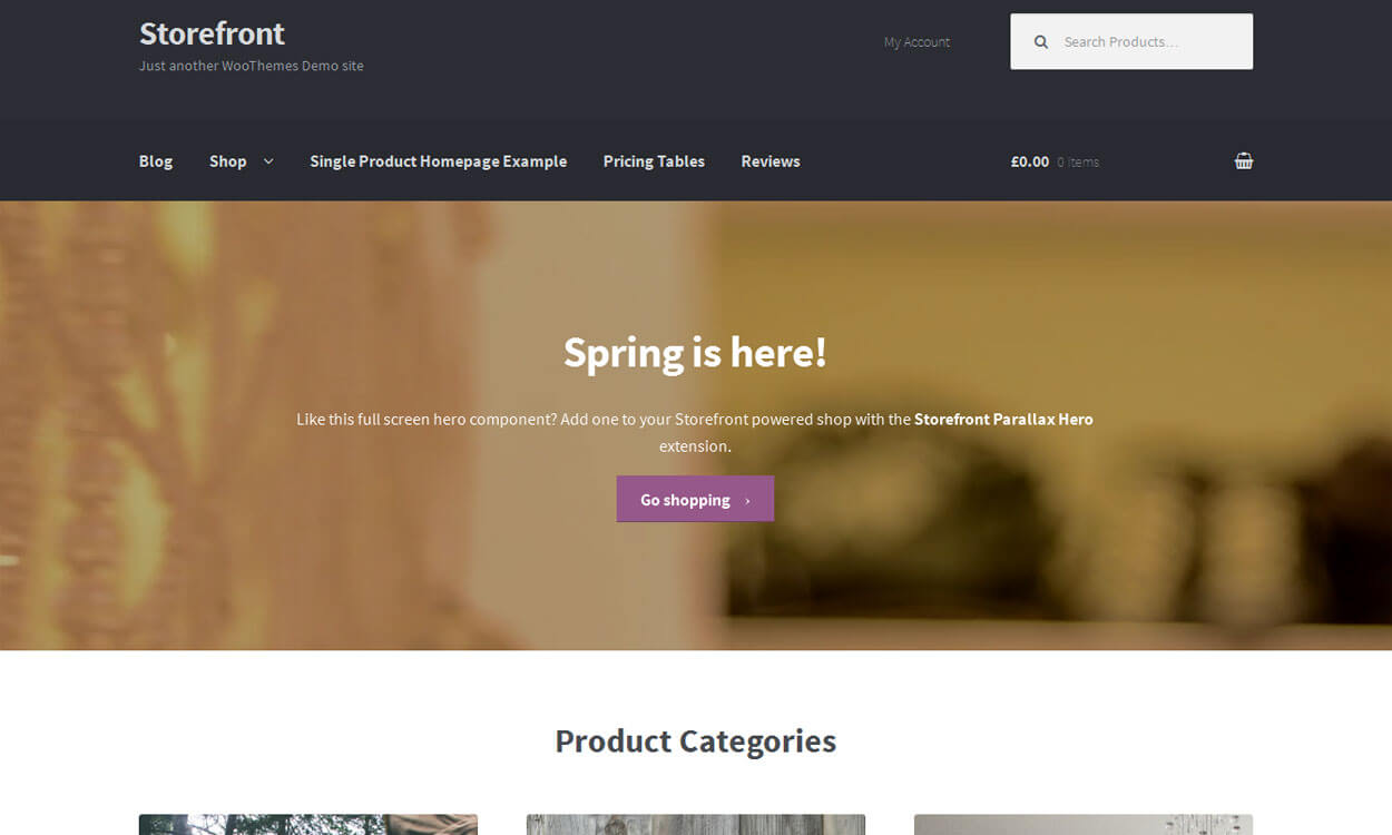 Storefront - 10+ Best Free WordPress eCommerce/Online Store/WooCommerce Themes for 2019