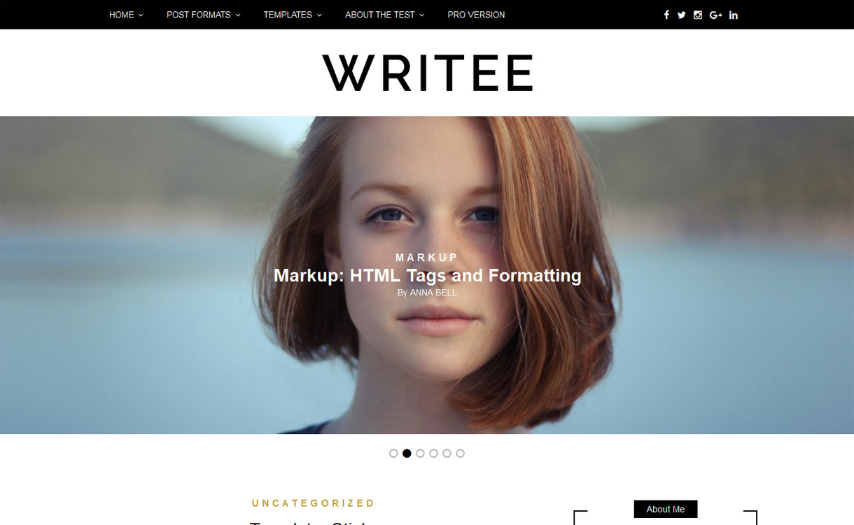 Writee - Free WordPress Blog Theme