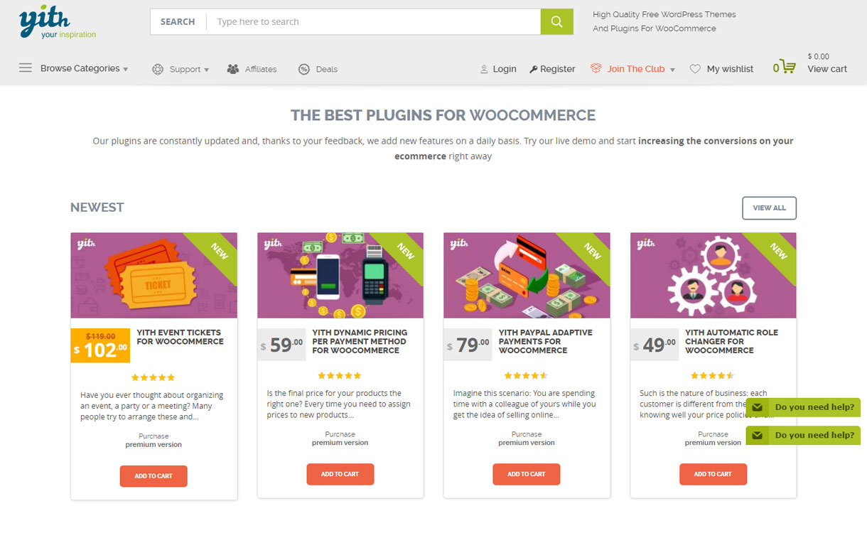 YITheme - Best WordPress Plugin Store