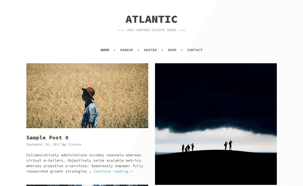 Atlantic-Best Free WordPress Photography Themes