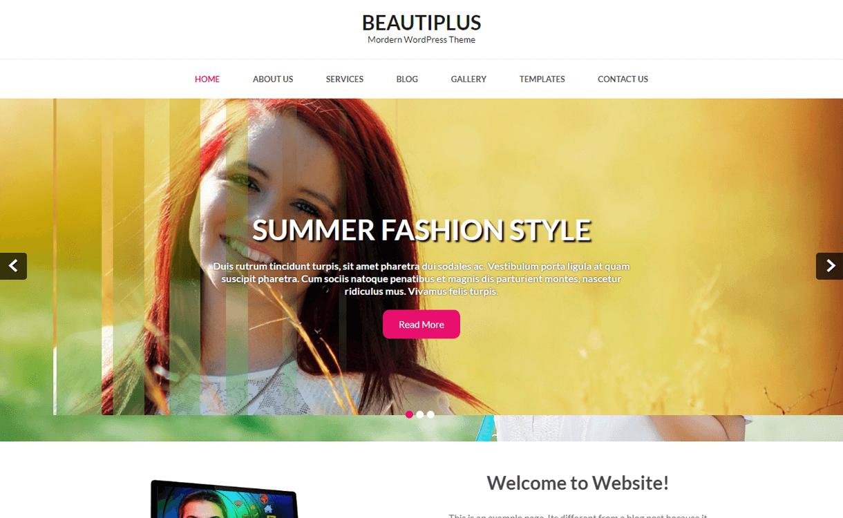 beautiplus best free photography wordpress themes - 30+ Best Free WordPress Photography Themes for 2019