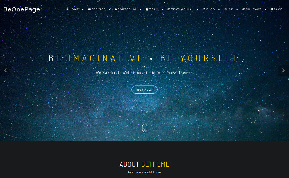 BeOnePage-Best Free One Page WordPress Themes