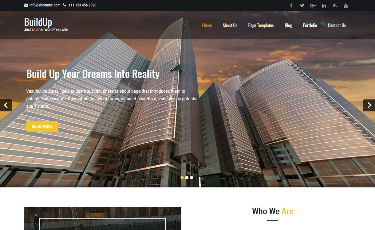 buildup best free construct - 20+ Best Free WordPress Construction Company Themes for 2019
