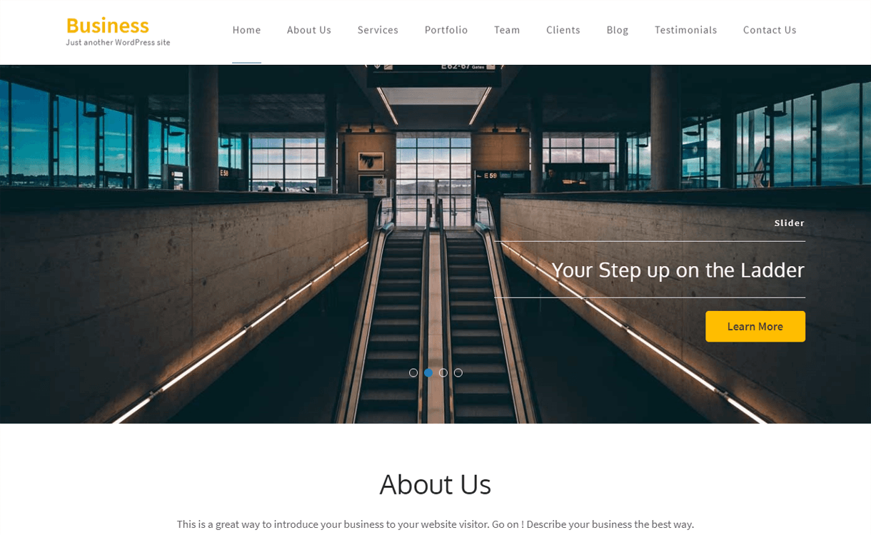 business one page best free one page wordpress themes - 25+ Best Free WordPress One Page Themes for 2019