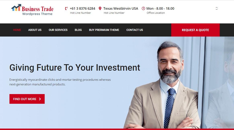 Business Trade - WordPress Business Theme
