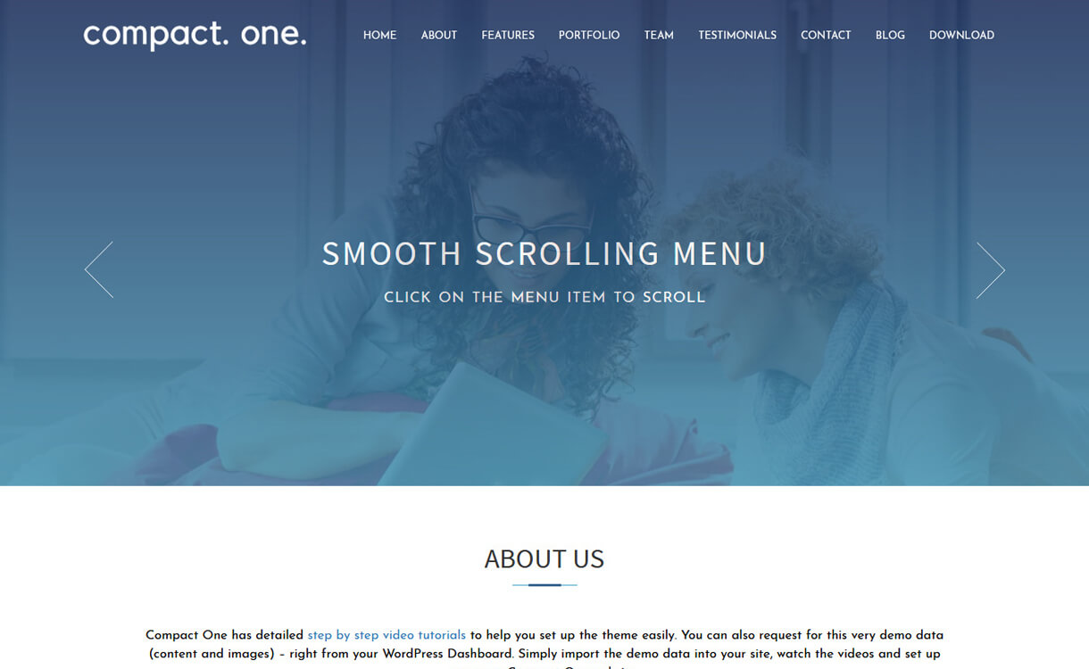 compact one best free one page wordpress themes - 25+ Best Free WordPress One Page Themes for 2020