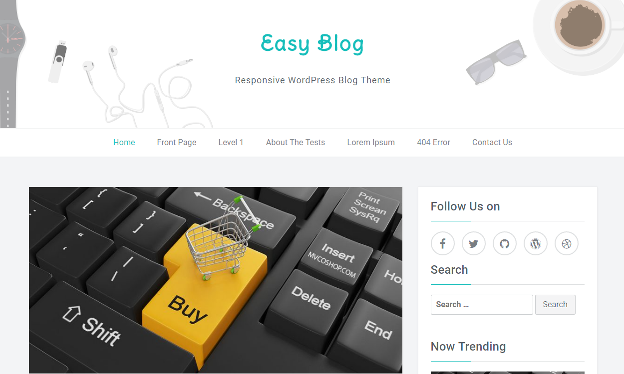 easy blog - 30+ Best Free WordPress Personal/Professional Blog Themes for 2019