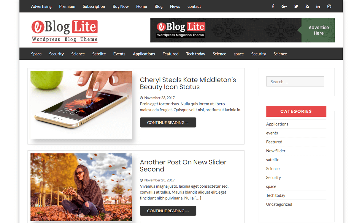 eblog lite best free wordpress blog themes - 30+ Best Free WordPress Personal/Professional Blog Themes for 2019