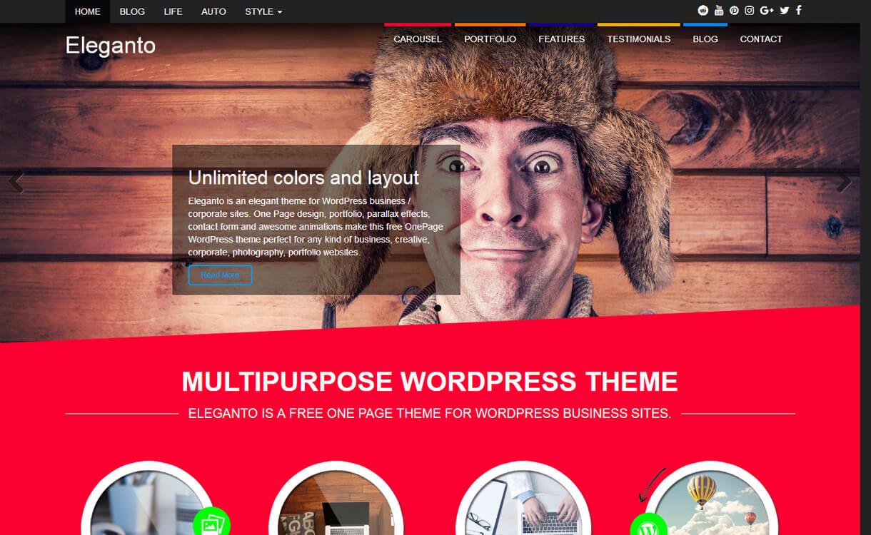 Elenganto-Best Free One Page WordPress Themes