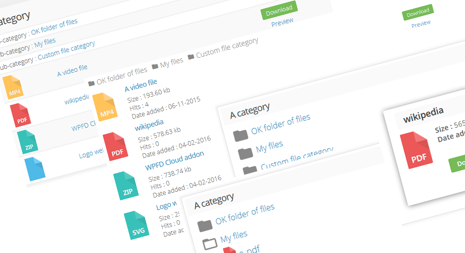 WP File Download plugin feature - 4 Themes included