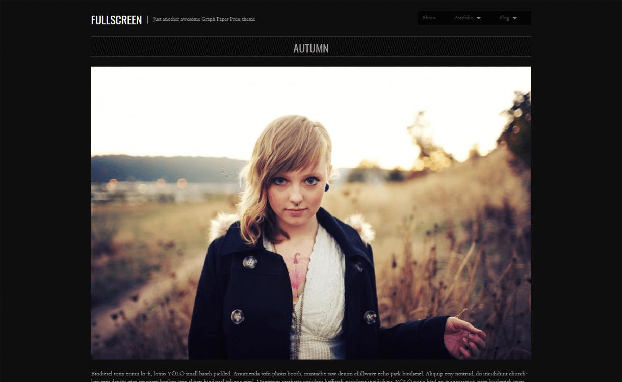 Fullscreen-Best Free WordPress Photography Themes