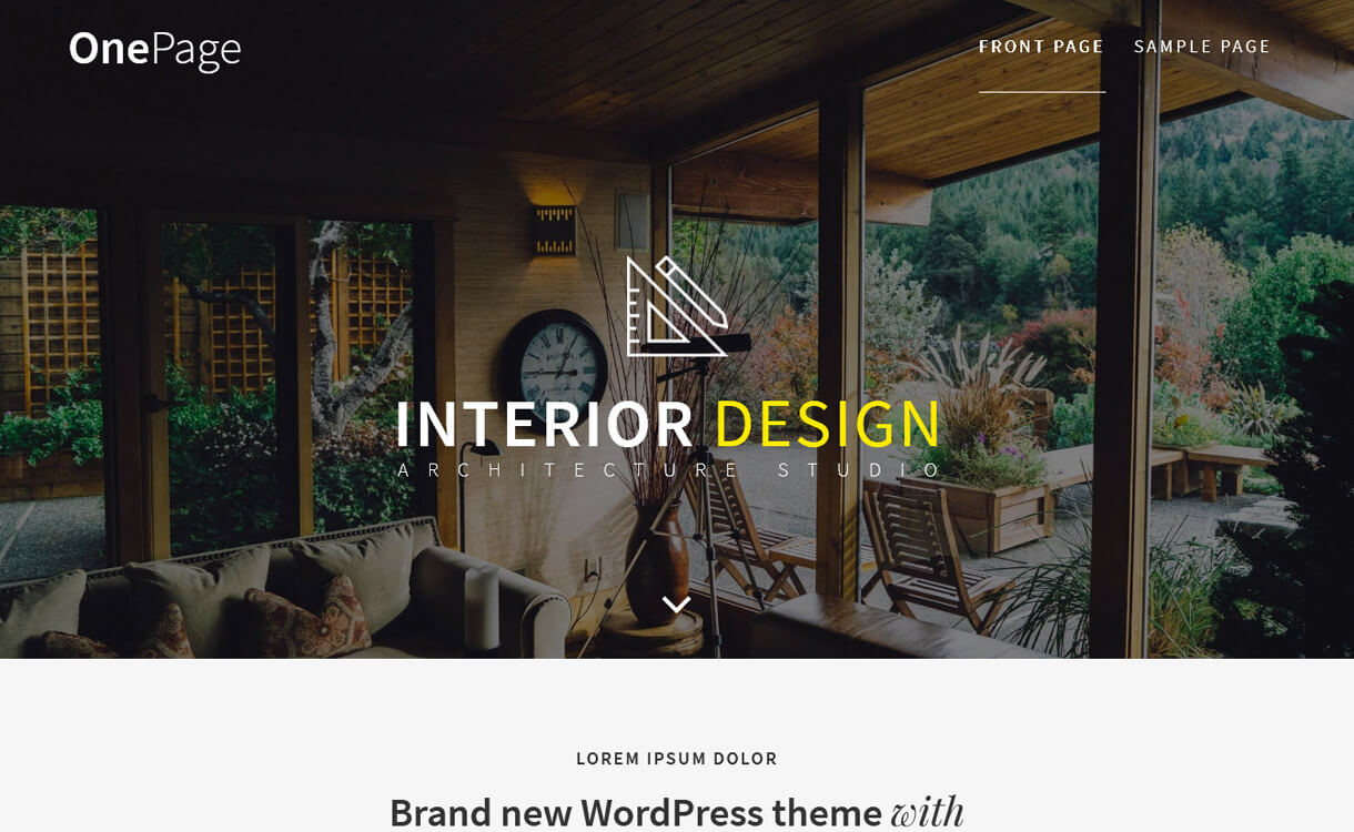One Page-Best Free One Page WordPress Themes
