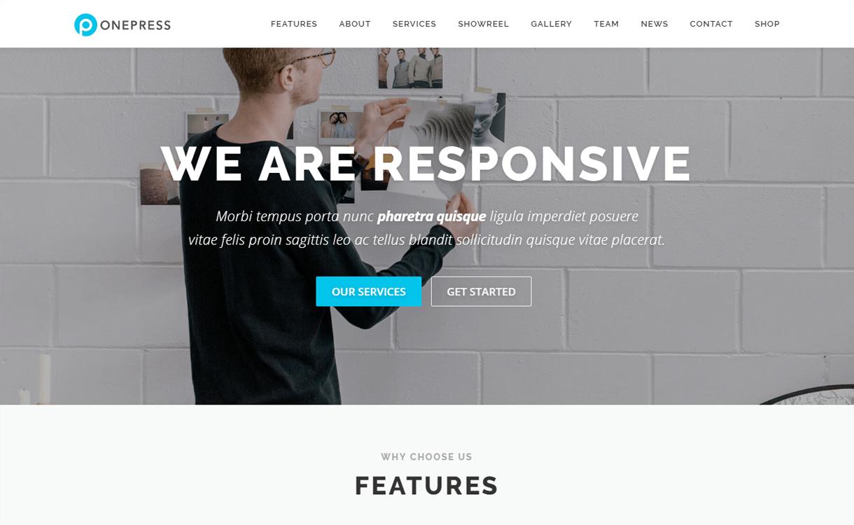 OnePress-Best Free One Page WordPress Themes