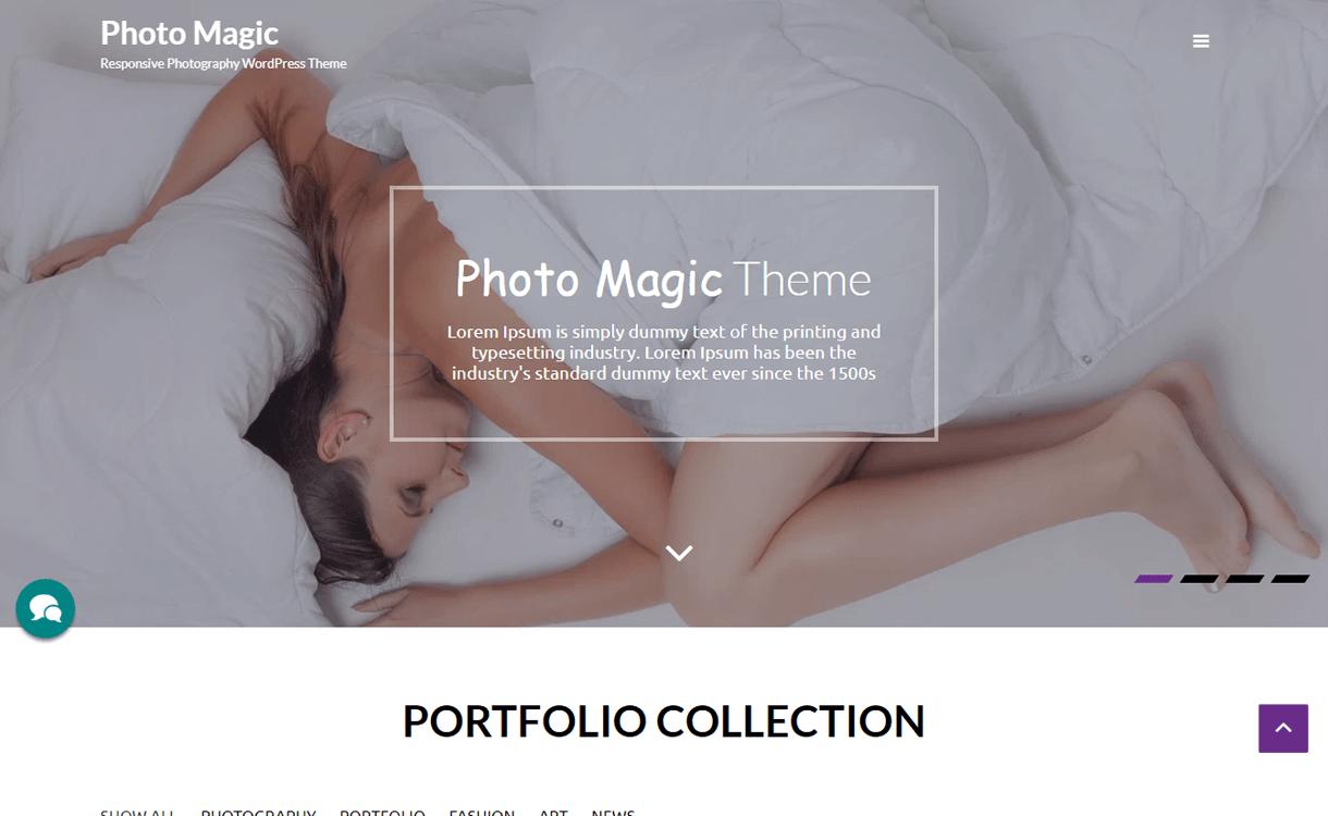 photo magic best free photography wordpress themes - 30+ Best Free WordPress Photography Themes for 2019