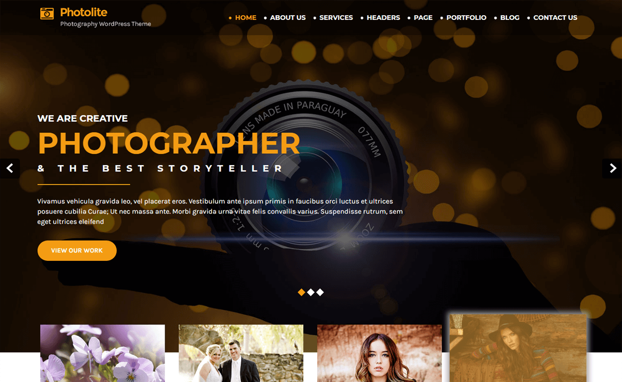 Photolite-Best Free WordPress Photography Themes