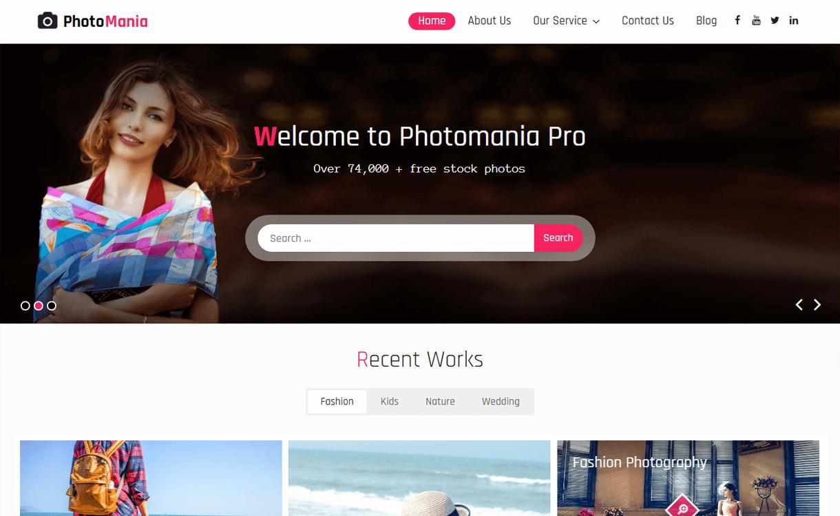 photomania best free photography wordpress themes - 30+ Best Free WordPress Photography Themes for 2019
