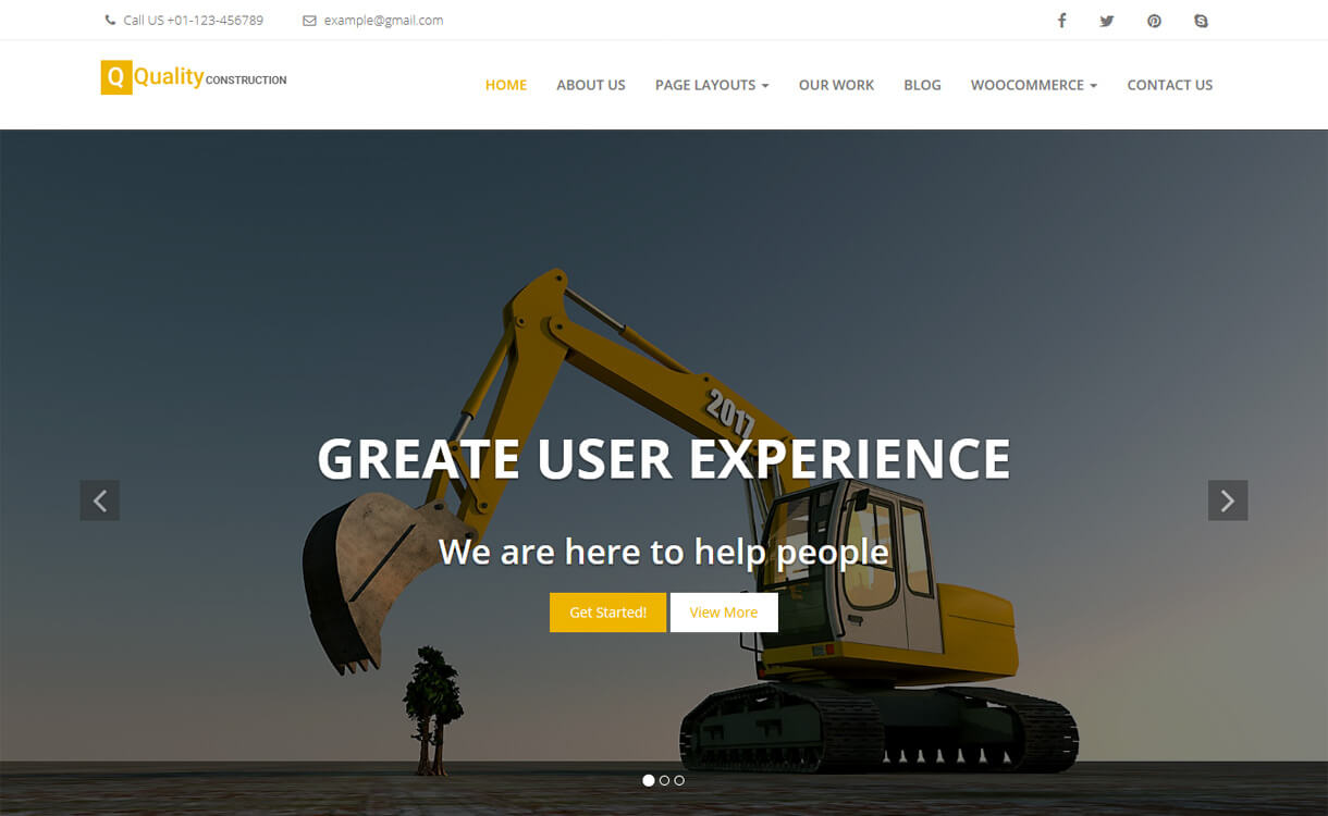 quality construction best f - 20+ Best Free WordPress Construction Company Themes for 2019