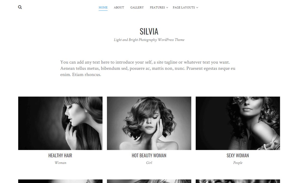 silvia best free photography wordpress themes - 30+ Best Free WordPress Photography Themes for 2019