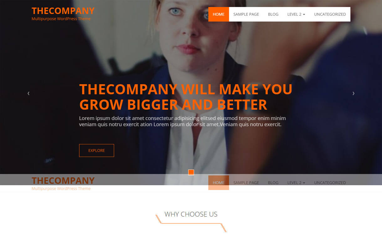 the company - 15+ Best Free Responsive WordPress Business Themes 2019