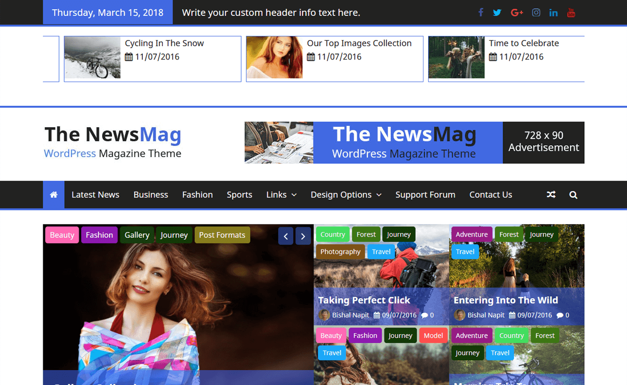 the newsmag best free magazine wordpress themes - 25+ Best Free WordPress News-Magazine/Online Editorial Themes for 2019