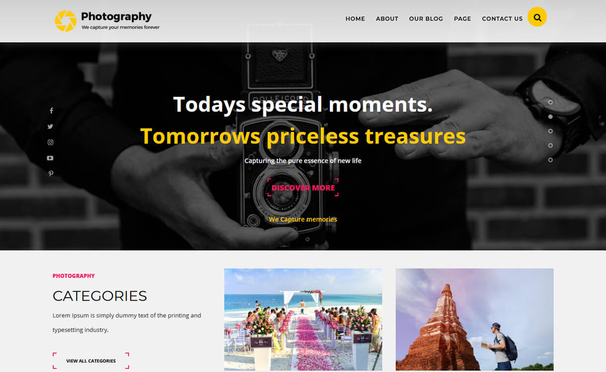 ts photography best free photography wordpress themes - 30+ Best Free WordPress Photography Themes for 2019