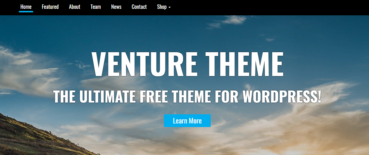 venture - 25+ Best Free WordPress One Page Themes for 2019