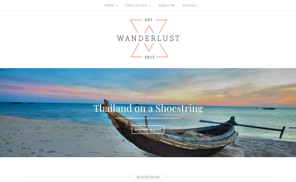 wanderlust best free photography wordpress themes - 30+ Best Free WordPress Photography Themes for 2019