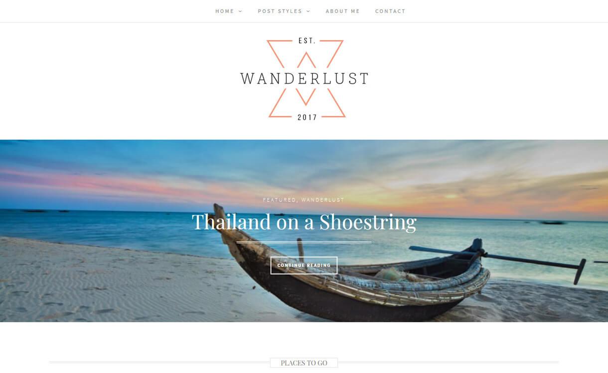 Wanderlust-Best Free WordPress Photography Themes