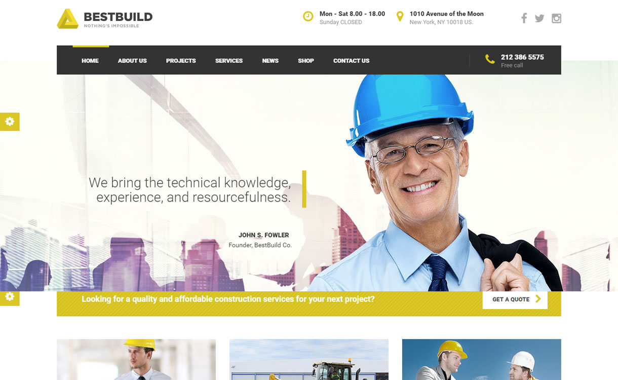 BestBuild - 30+ Best Premium WordPress Construction Company Themes 2019