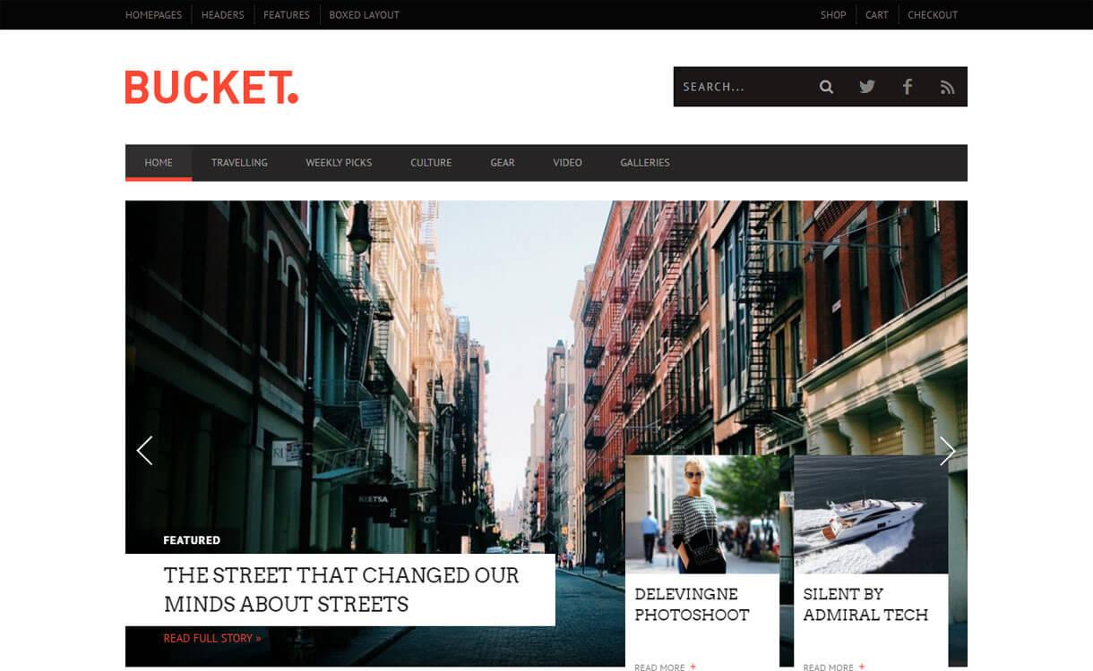 Bucket - 21+ Best Premium WordPress News/Magazine/Editorial Themes 2019