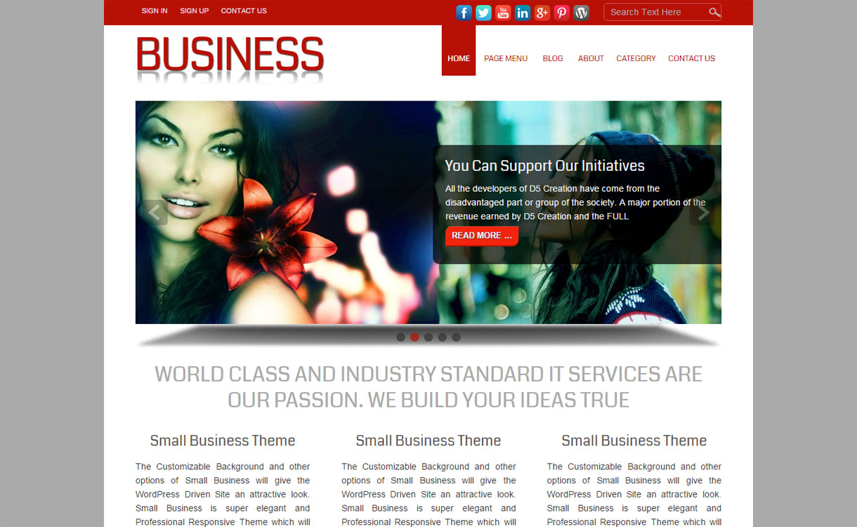 SmallBusiness - Premium Business WordPress Theme