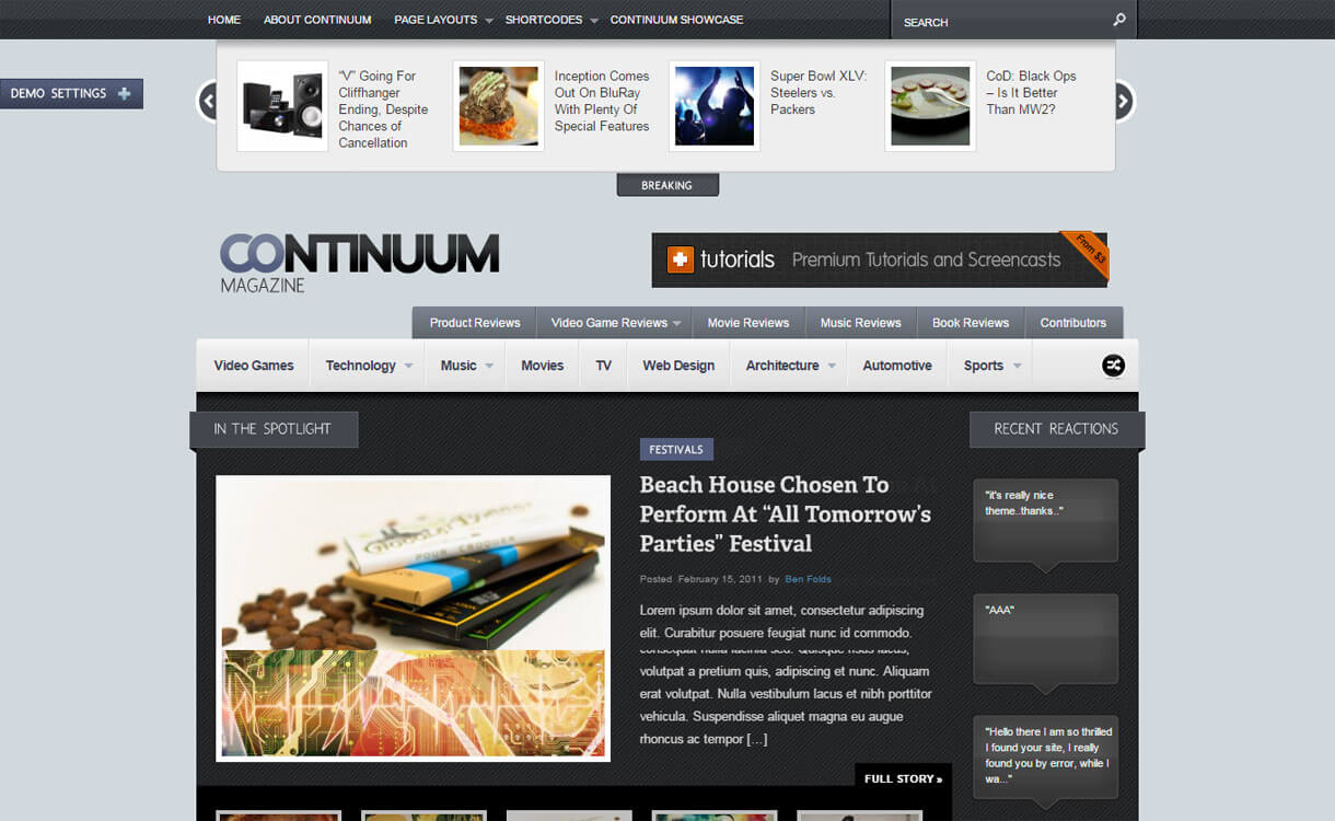 Continuum - 21+ Best Premium WordPress News/Magazine/Editorial Themes 2019
