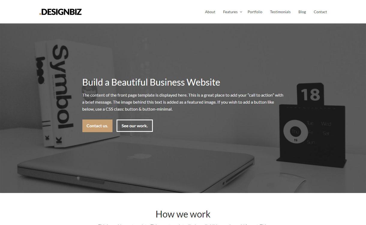 Designbiz - Versatile Business WordPress Theme