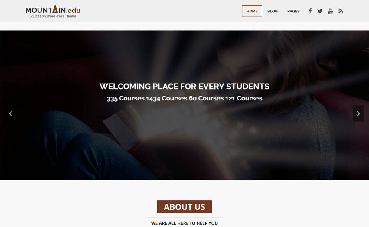 Educate - 30+ Best Free Education WordPress Themes 2019