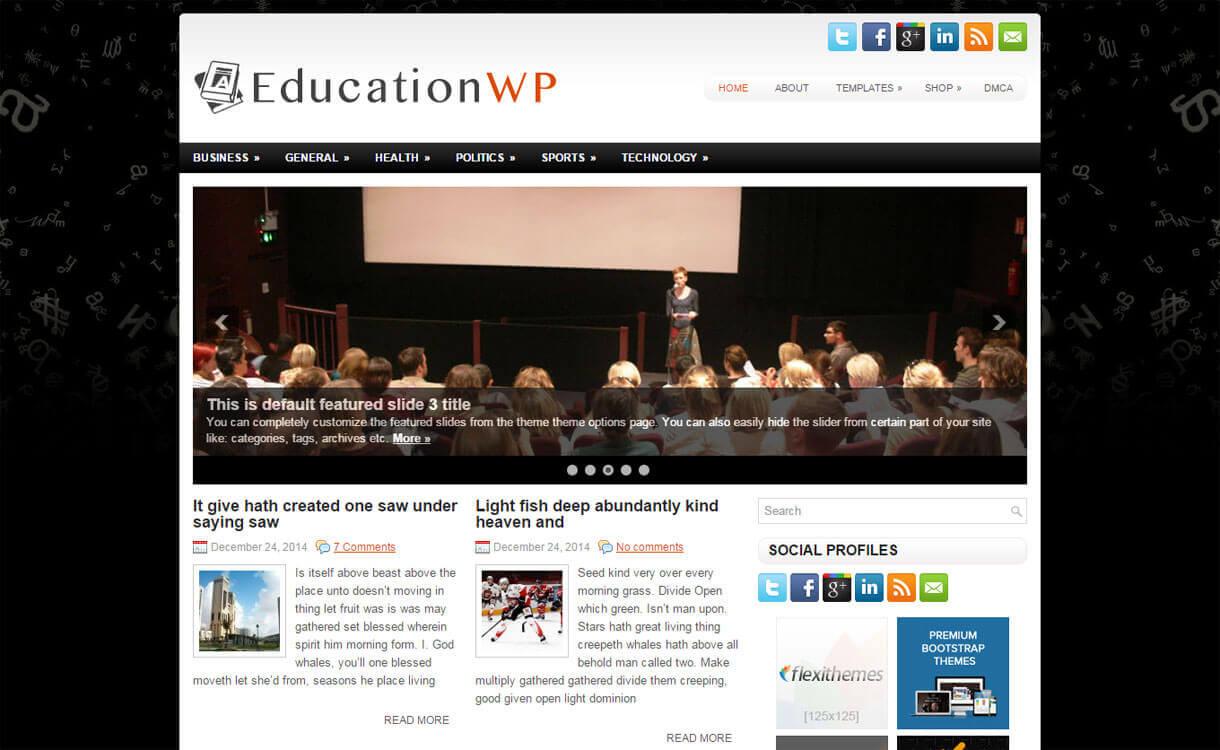EducationWP - 30+ Best Free Education WordPress Themes 2019