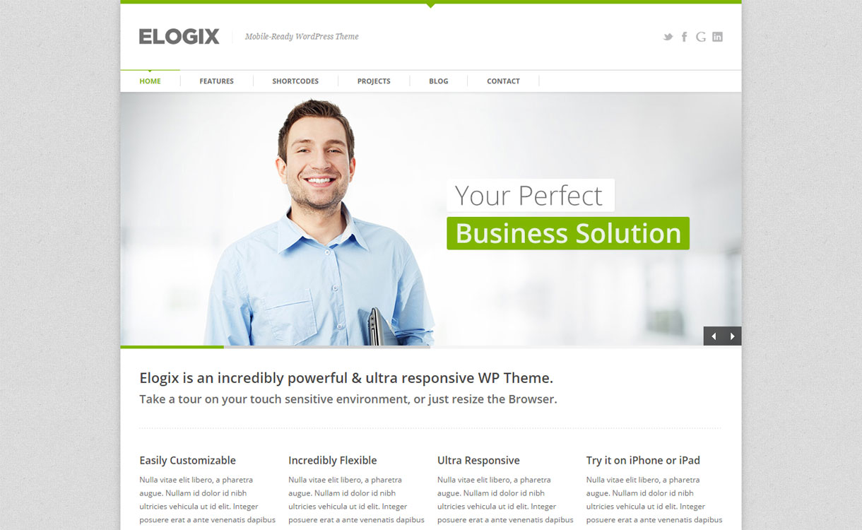 Elogix - Premium Versatile WordPress Theme