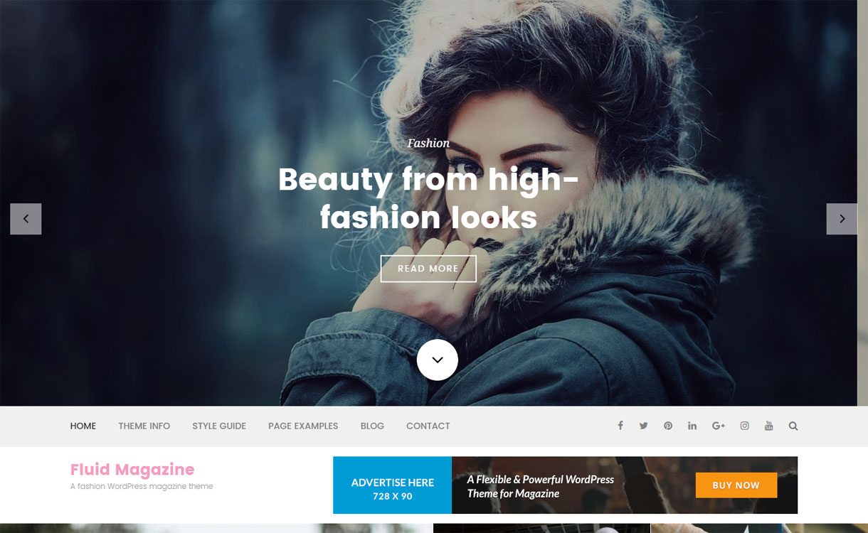 Fluid Magazine - Free Magazine WordPress Theme