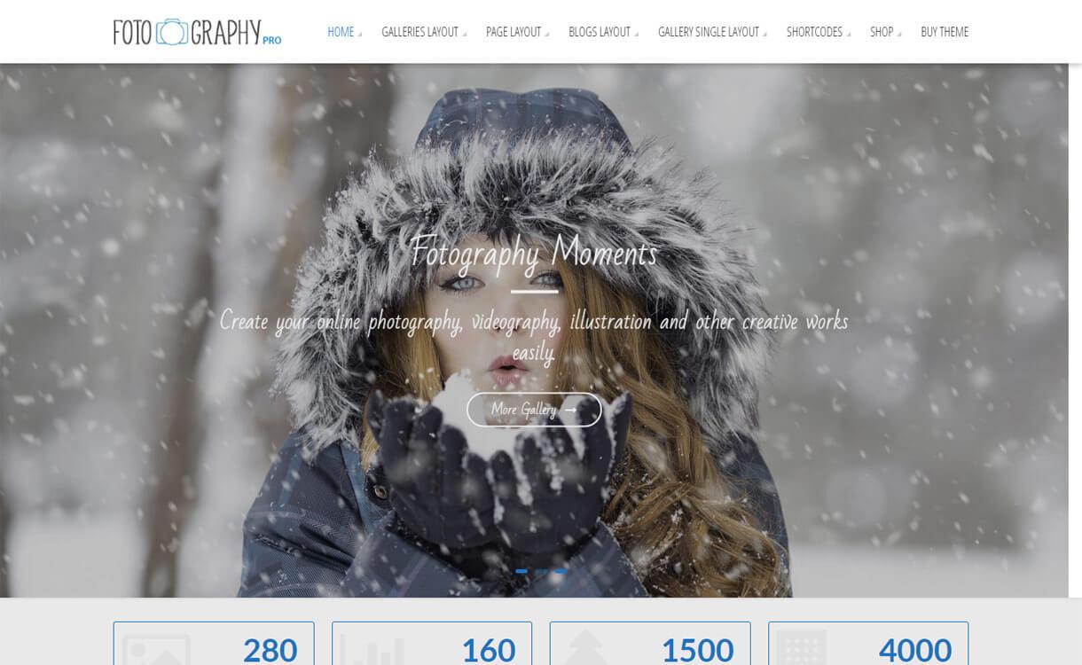 FotoGraphy Pro - 30+ Best Premium WordPress Photography Themes 2019