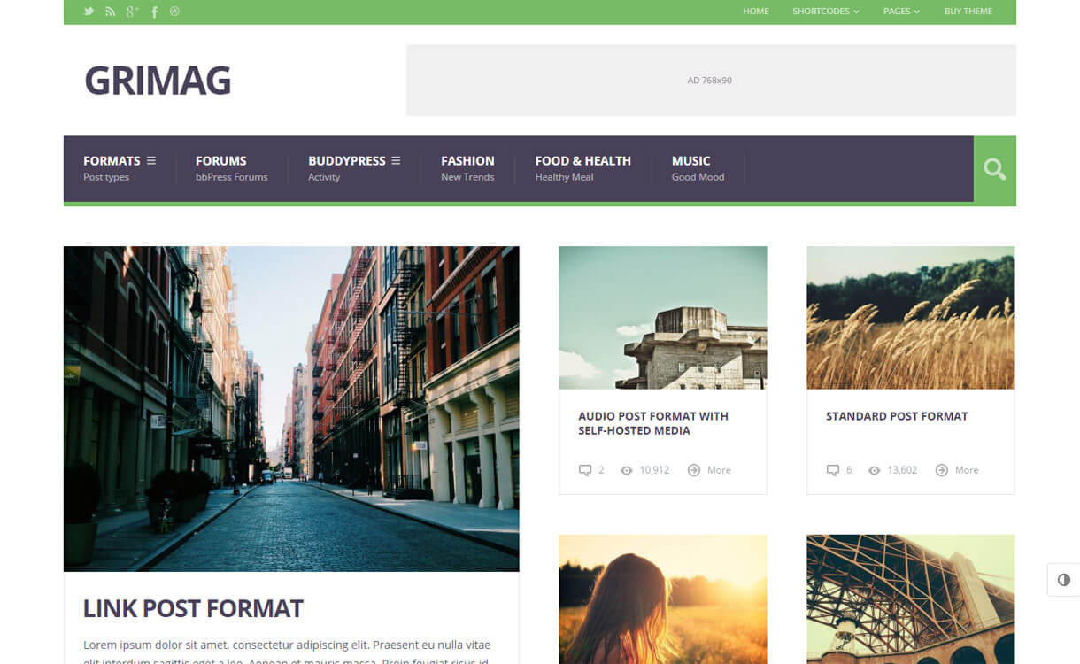 GriMag - 21+ Best Premium WordPress News/Magazine/Editorial Themes 2019