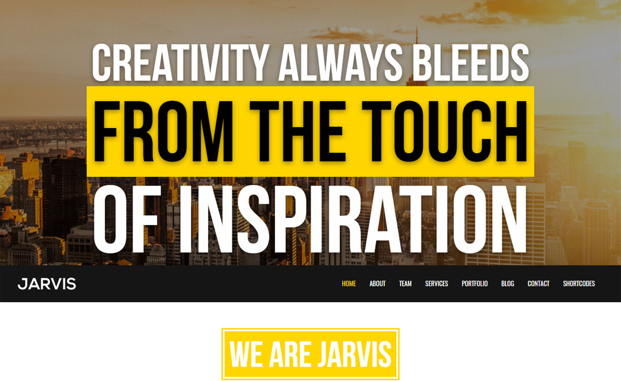 Jarvis - 15+ Best Premium WordPress One Page Themes 2019