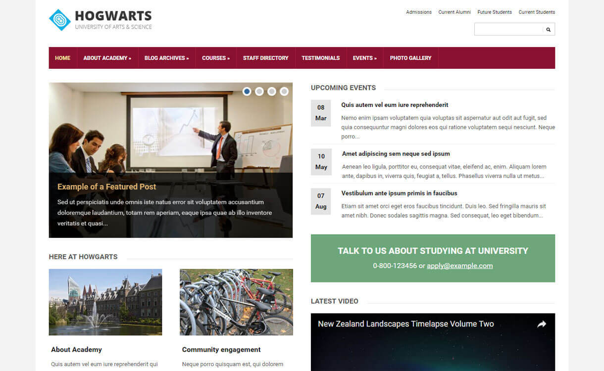 Lectura Lite - Best Free WordPress Education Themes 2018