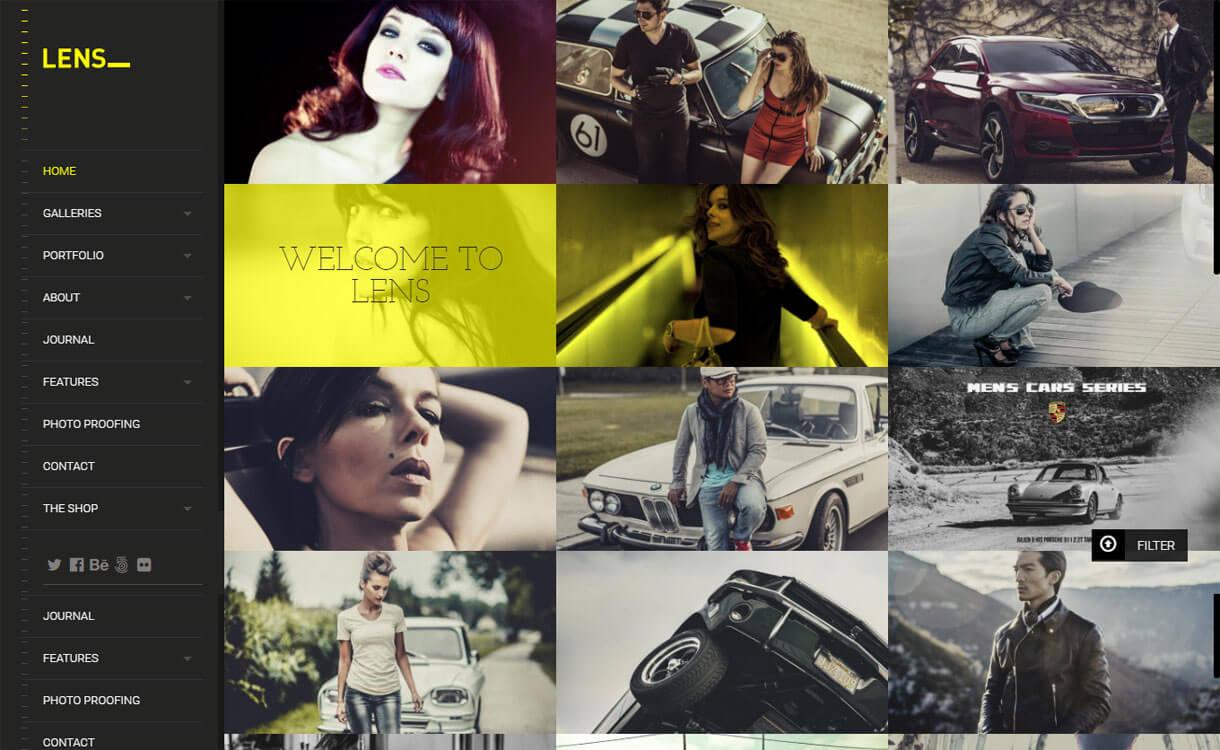 Lens - 30+ Best Premium WordPress Photography Themes 2019