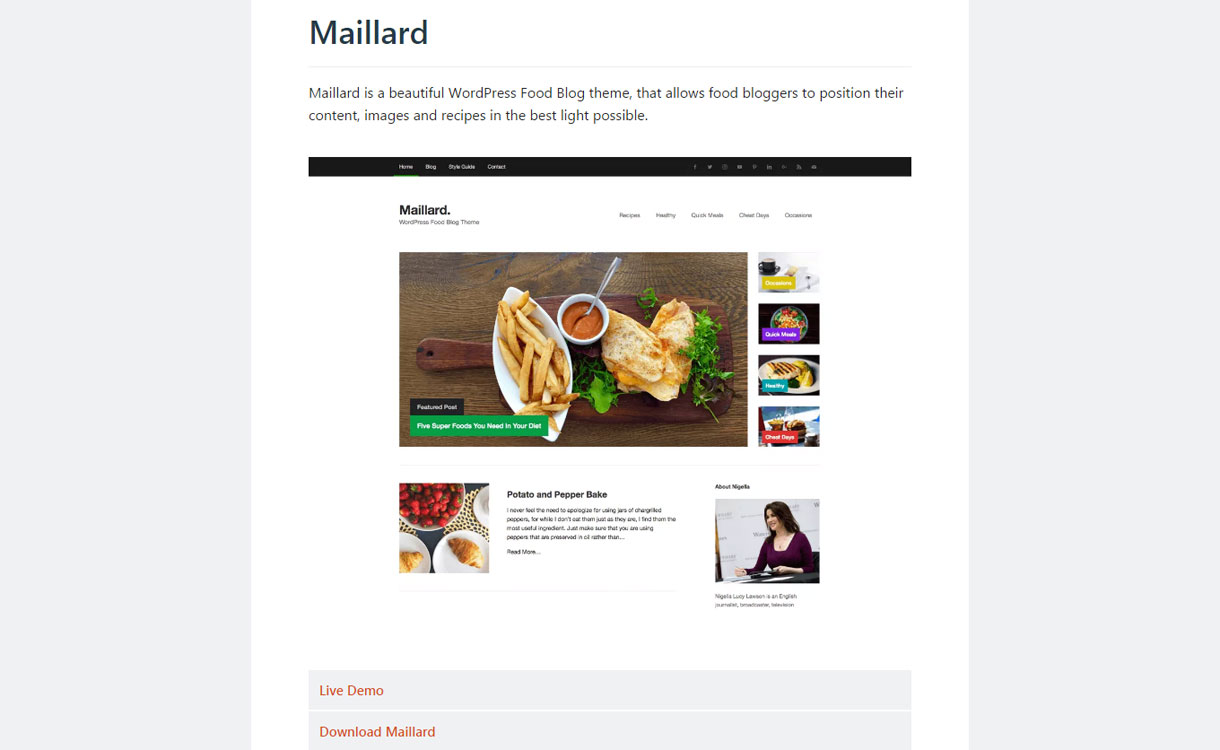 Maillard - Free WordPress Blog Theme