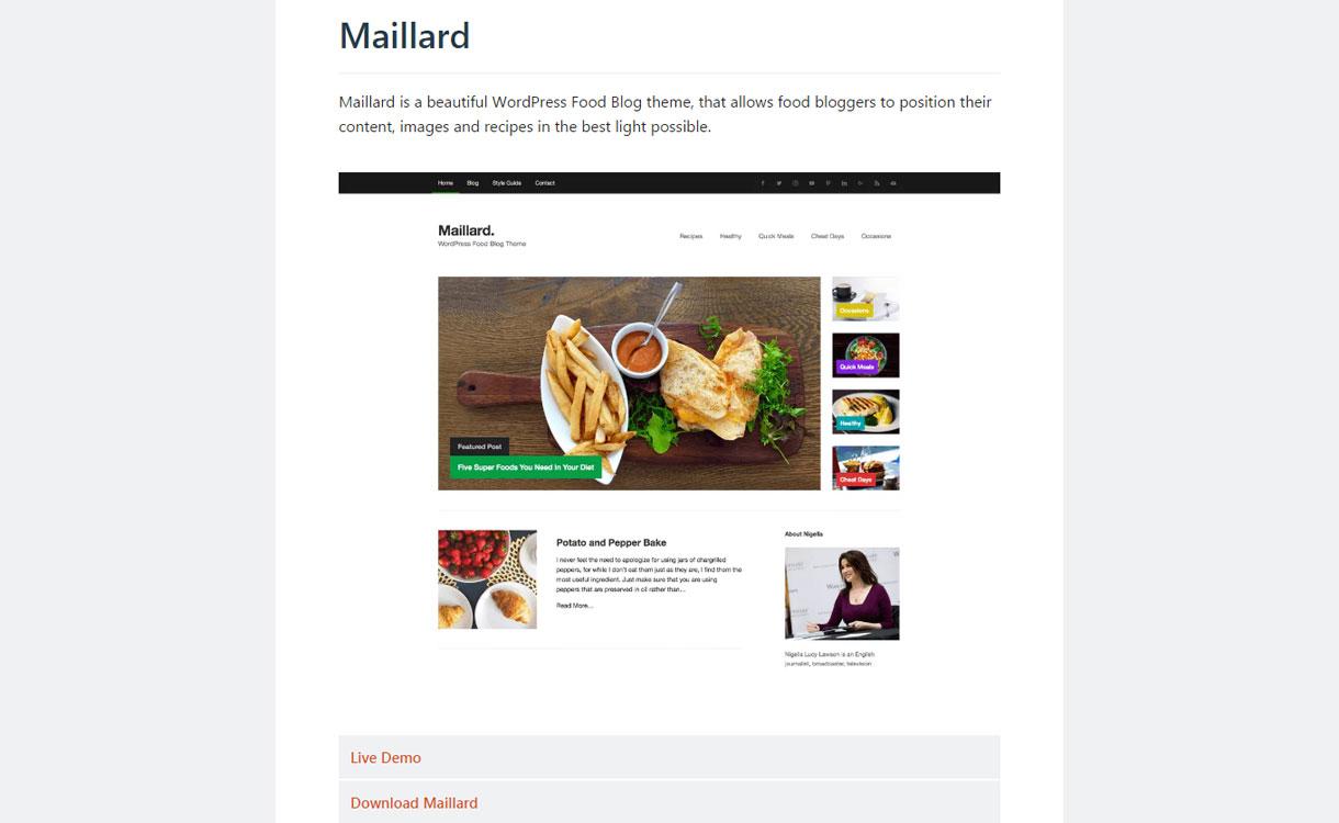 Maillard - Free WordPress Blog Theme