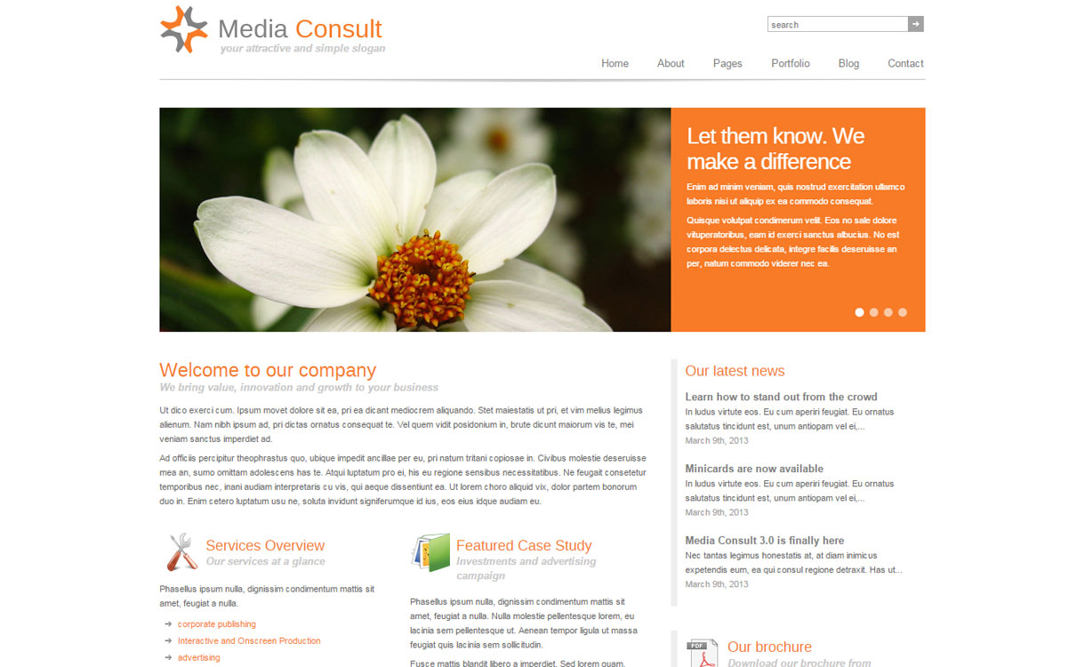 Media Consult 1 - 30+ Best Premium WordPress Business/Agency Themes for 2019