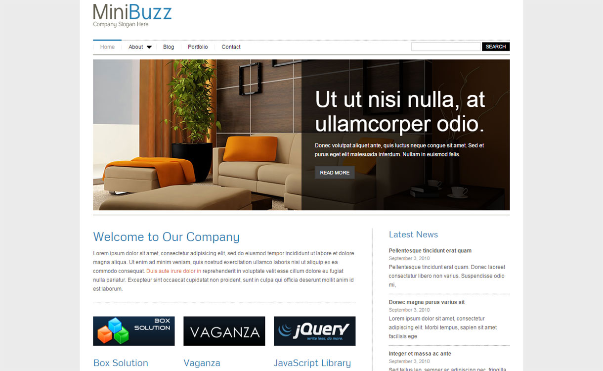 MiniBuzz 1 - 30+ Best Premium WordPress Business/Agency Themes for 2020