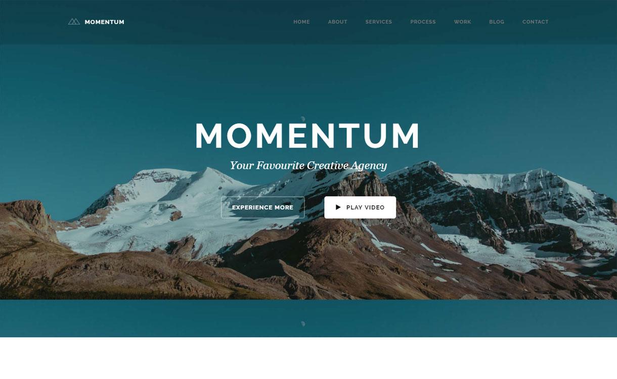 Momentum - 15+ Best Premium WordPress One Page Themes 2019